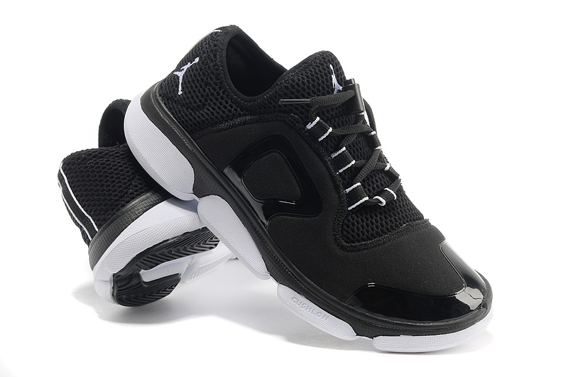 2013 Jordan Running Shoes Black White