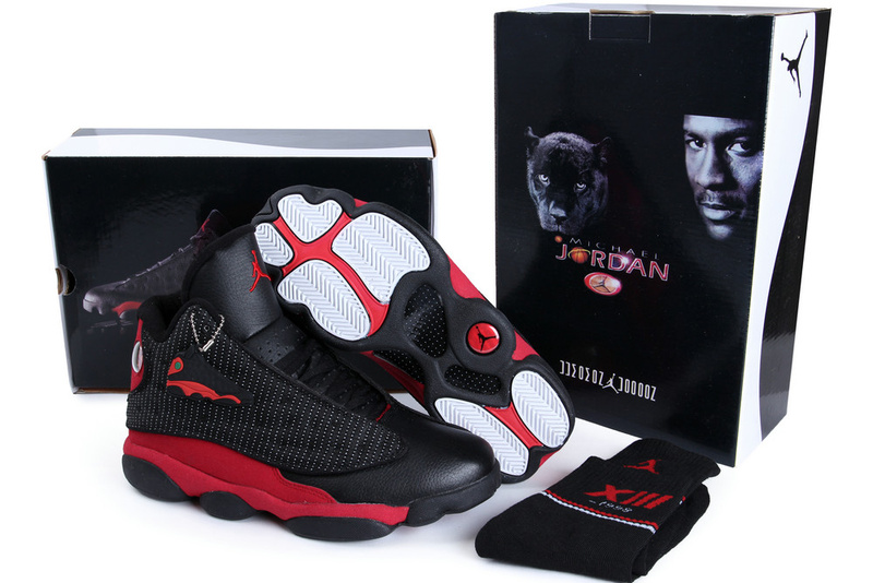 Hardback Authentic Jordan 13 Black Red Shoes