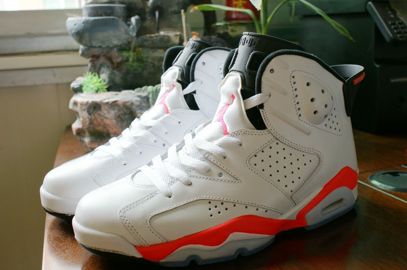 2014 Air Jordan Retro 6 Infrared White Red Shoes