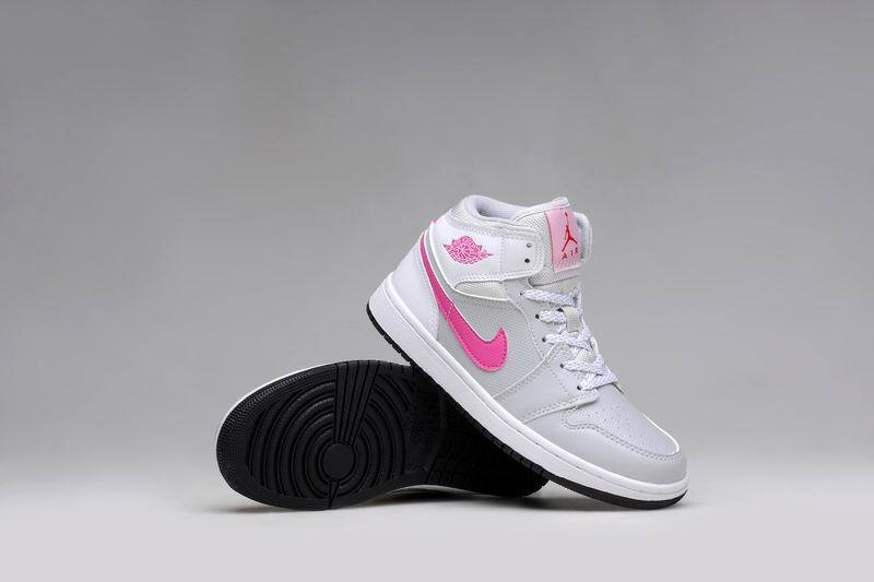 2015 Air Jordan 1 GS Grey Pink White