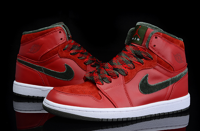 New Air Jordan Retro 1 All Red Green