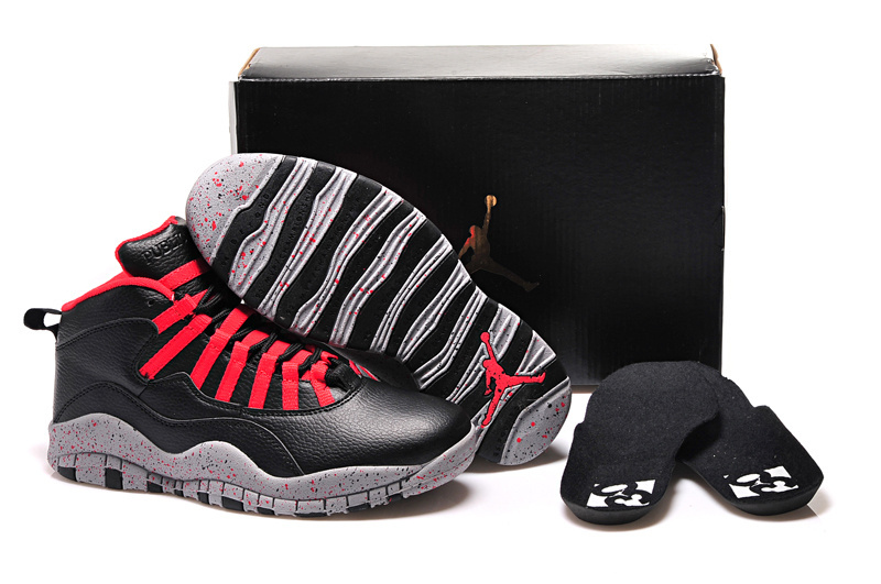 2015 Air Jordan 10 GS PSNY Public School Black Grey Gym Red