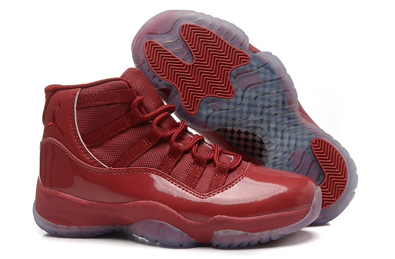 2015 Air Jordan 11 GS Red Brown Leather Shoes