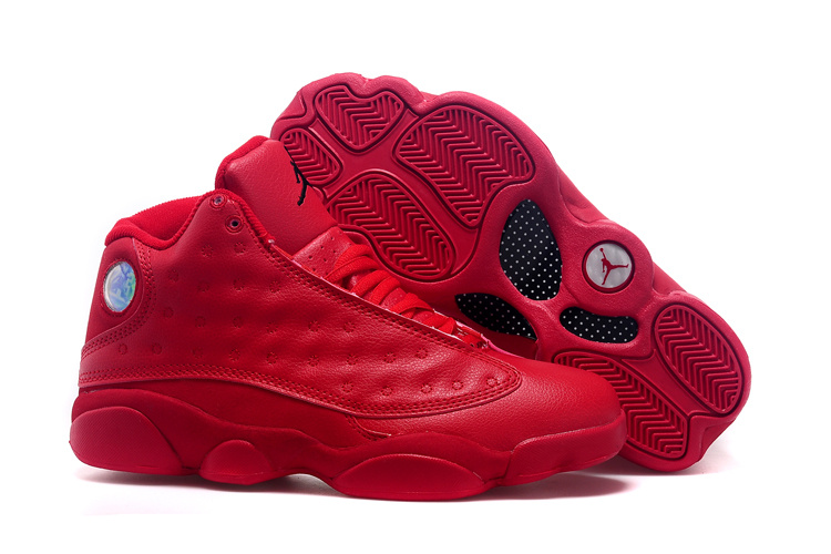 2015 Air Jordan 13 All Red Shoes