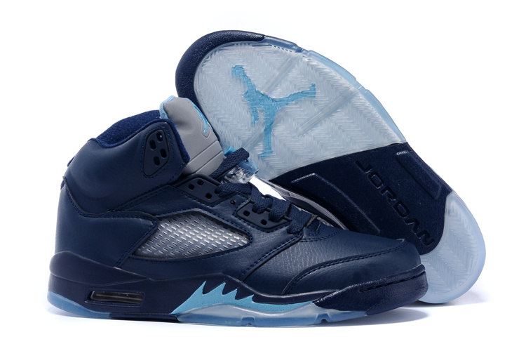 2015 Air Jordan 5 Hornets Midnight Navy Turquoise Blue White