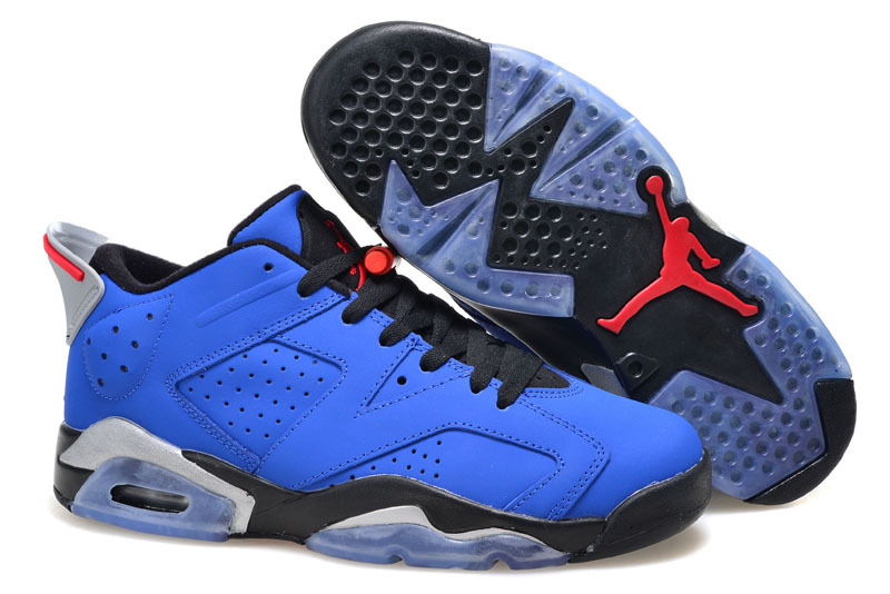 2015 Air Jordan 6 Low GS Eminem Blue Black Grey