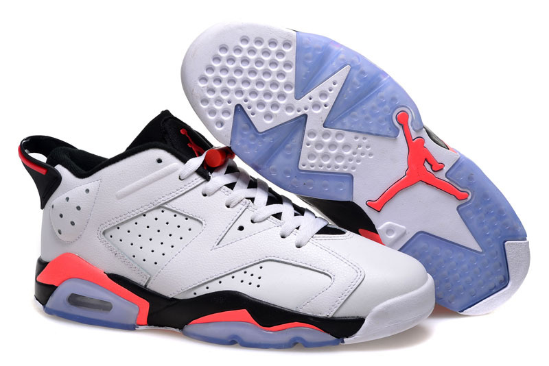 2015 Air Jordan 6 Low GS White Infrared