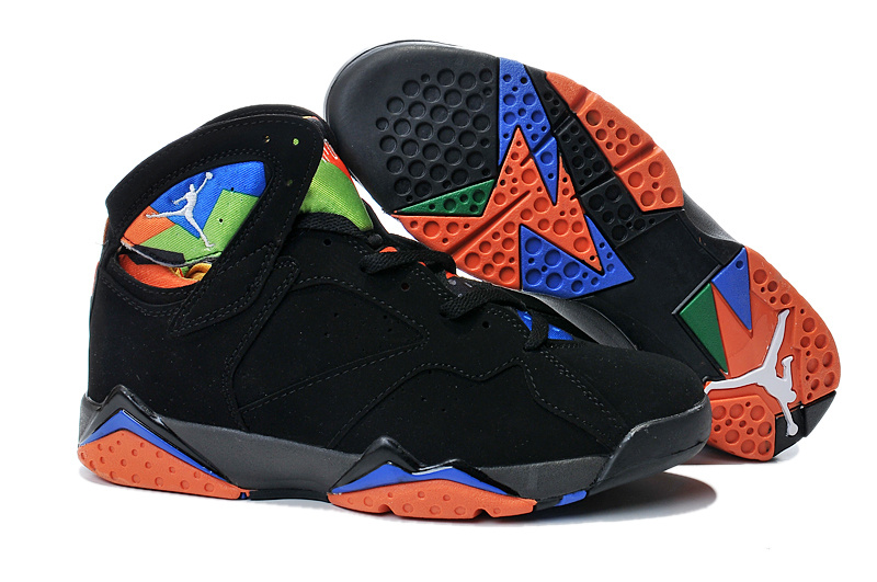 2015 Air Jordan 7 Black Orange Shoes