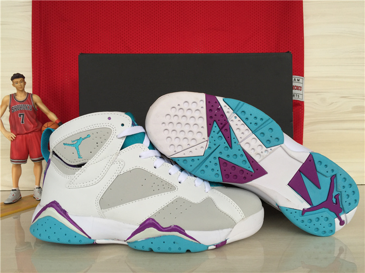 2015 Air Jordan 7 Retro GS Neutral Grey Mineral Blue