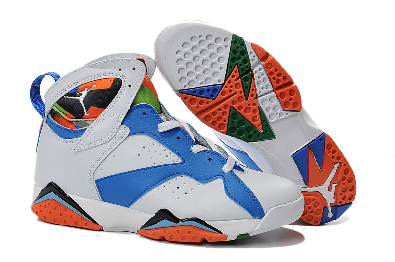 2015 Air Jordan 7 White Blue Black Orange