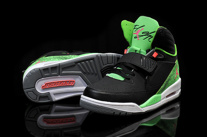 Cheap 2015 Real Jordan Flight 97 Black Green Red