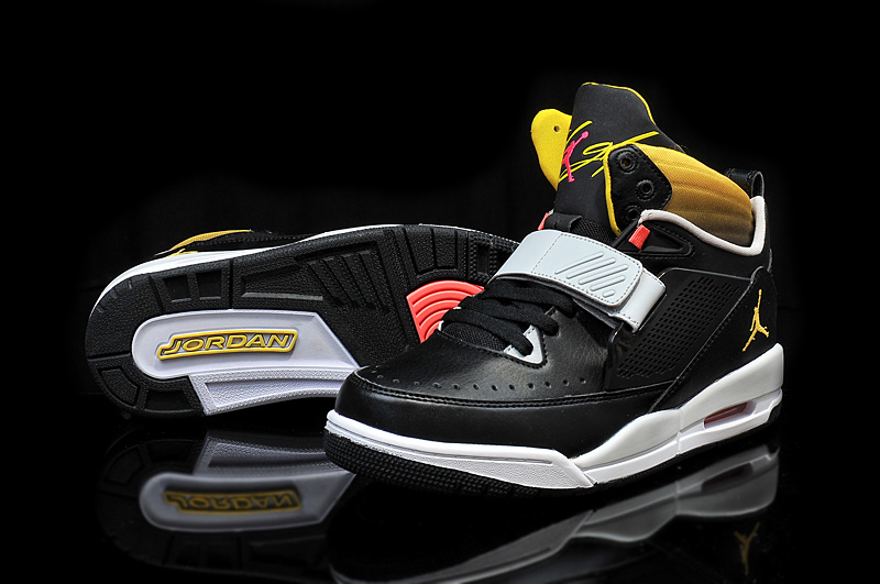 Cheap 2015 Real Jordan Flight 97 Black Grey Yellow Shoes