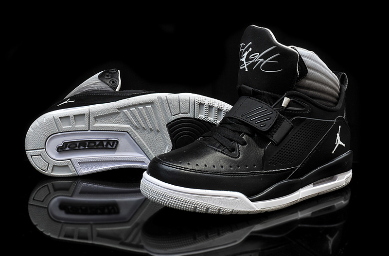 Cheap 2015 Real Jordan Flight 97 Black White Grey Shoes