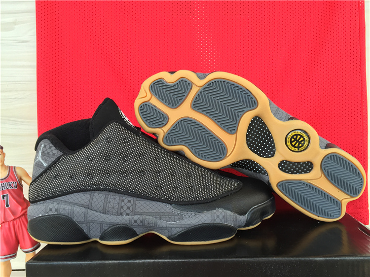 Cheap New Air Jordan 13 Low Black Orange Shoes