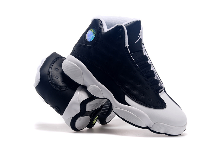 2015 Jordan 13 Oreo Black White Lover Shoes