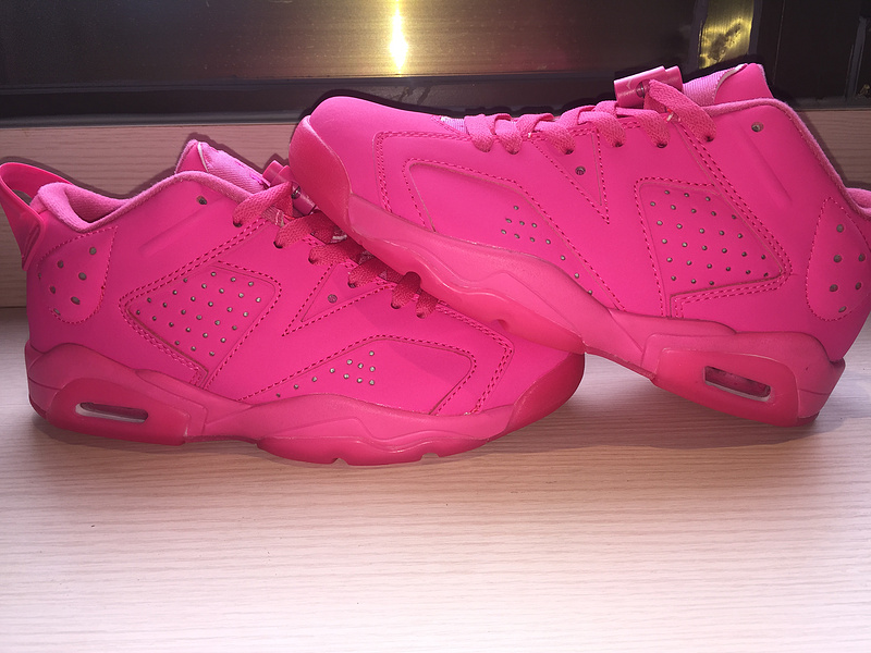 2015 Jordan 6 Low All Pink Women Shoes