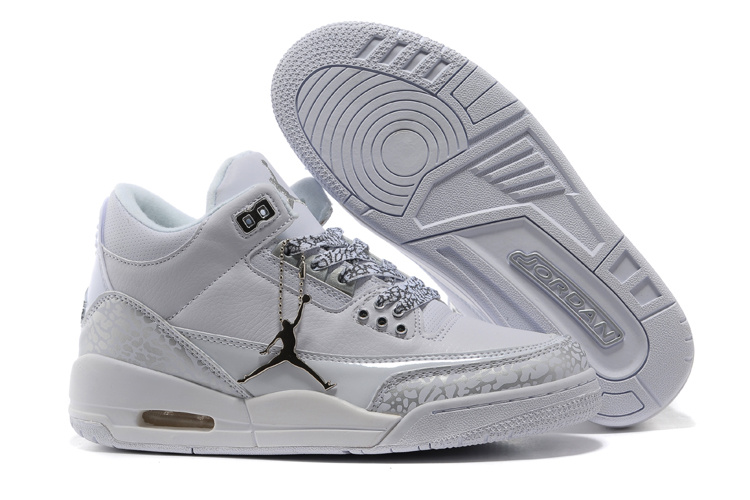 Real 2015 Air Jordan 3 Retro Grey Cement Lover Shoes