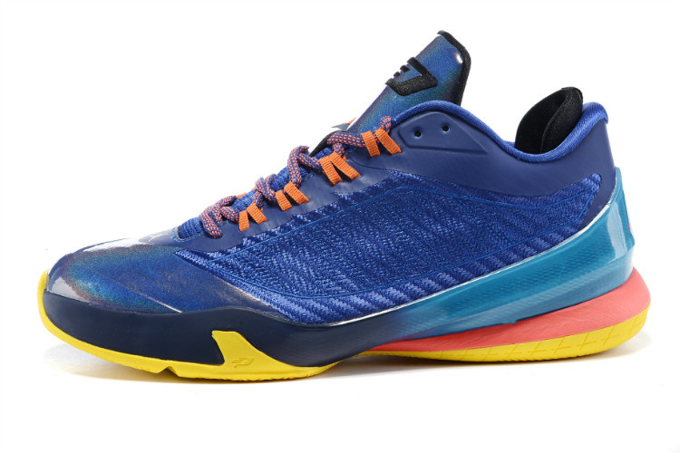 2015 Nike Jordan CP3 VIII Sea Blue Pink Orange Shoes