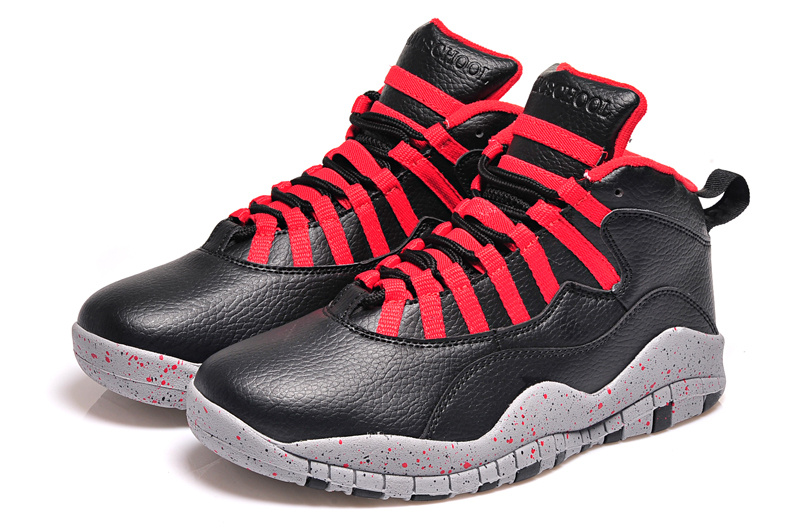 2015 Air Jordan 10 Retro Black Red Shoes