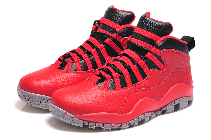 2015 Air Jordan 10 Retro Red Black Shoes