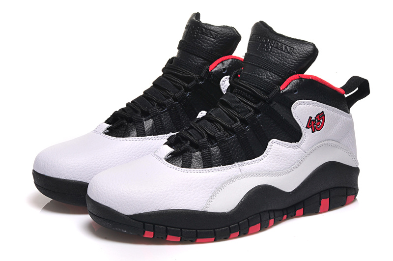 2015 Air Jordan 10 Retro White Black Red Shoes