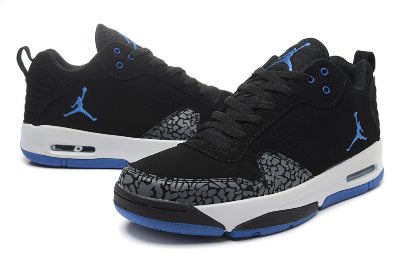 2015 Air Jordan Cement Black Blue White Shoes