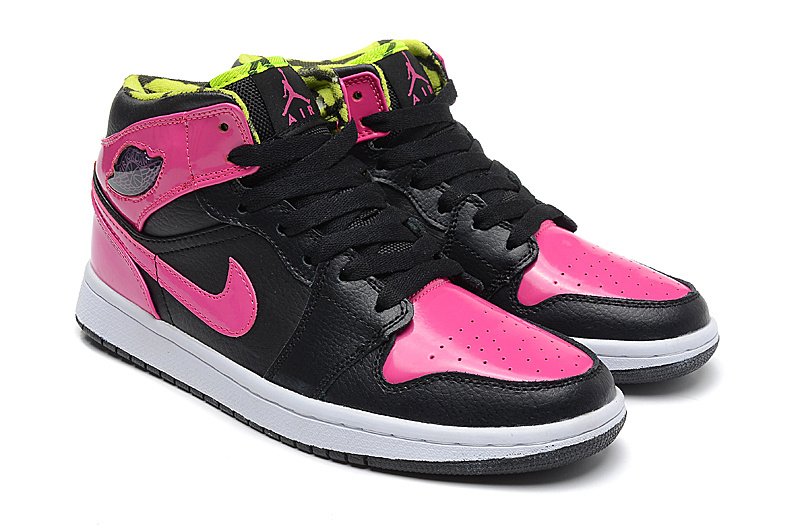 2015 Pink Black Air Jordan 1 Phat GS Shoes