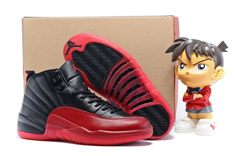 2016 Air Jordan 12 Flu Game Black Varsity Red