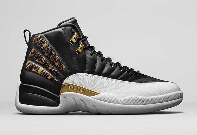 2016 Air Jordan 12 Gold Wings Black Metallic Gold White