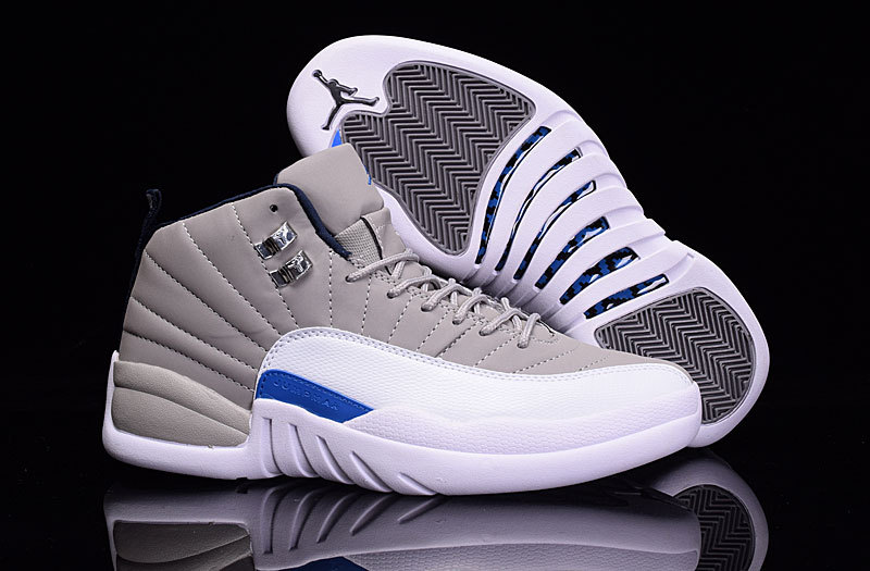 2016 Air Jordan 12 Wolf Grey Blue White