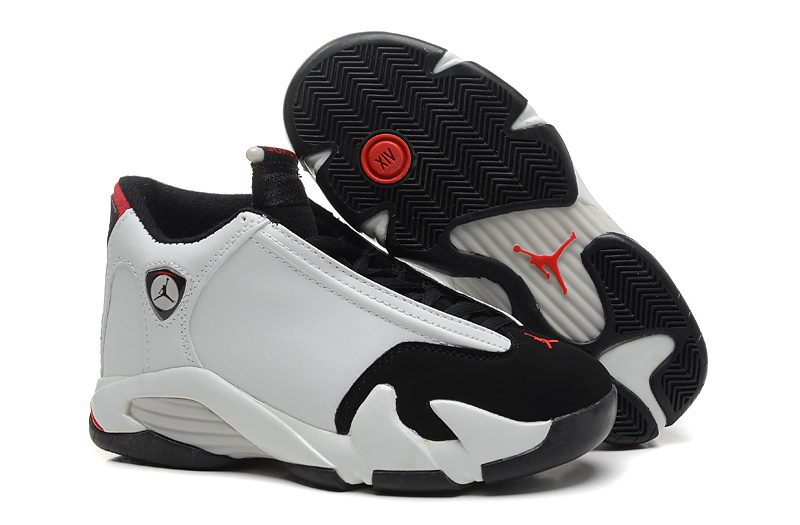 2016 Air Jordan 14 Black Toe White Black Varsity Red Metallic Silver
