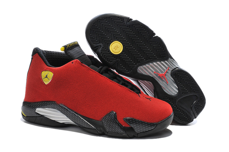 2016 Air Jordan 14 Ferrari Chilling Red Black Vibrant Yellow