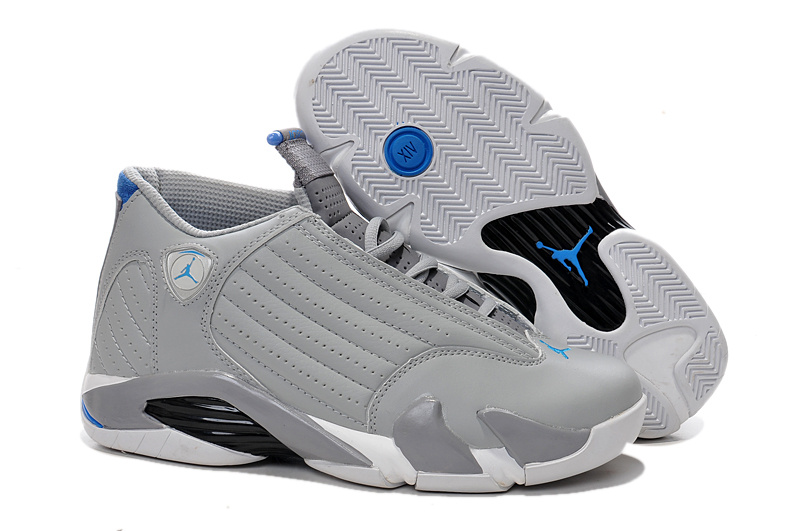 2016 Air Jordan 14 Wolf Grey White Sport Blue