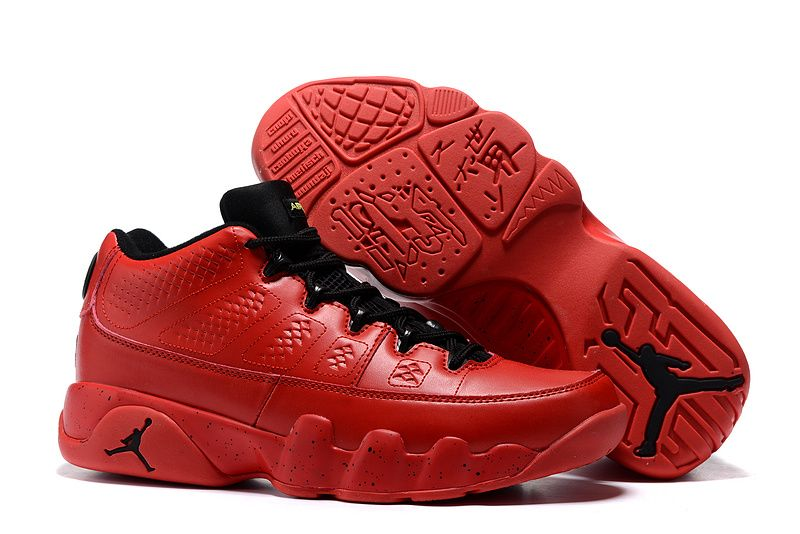 2016 Air Jordan 9 Retro Low Infrared Black Bright Red