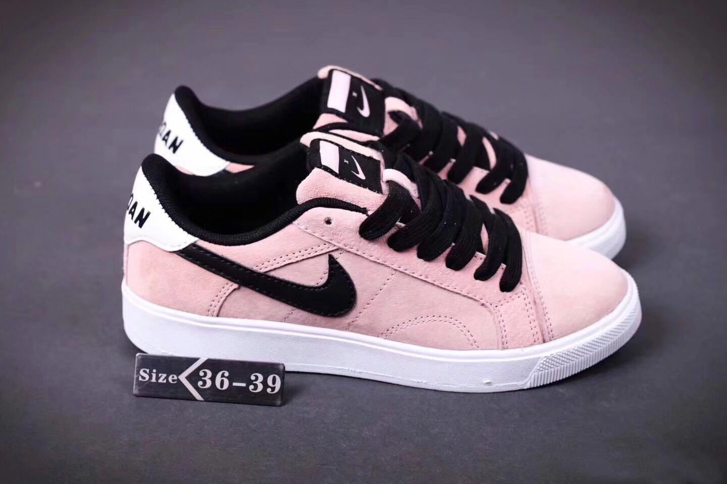 2017 Air Jordan 1 Low New Year Pink Black Shoes For Women