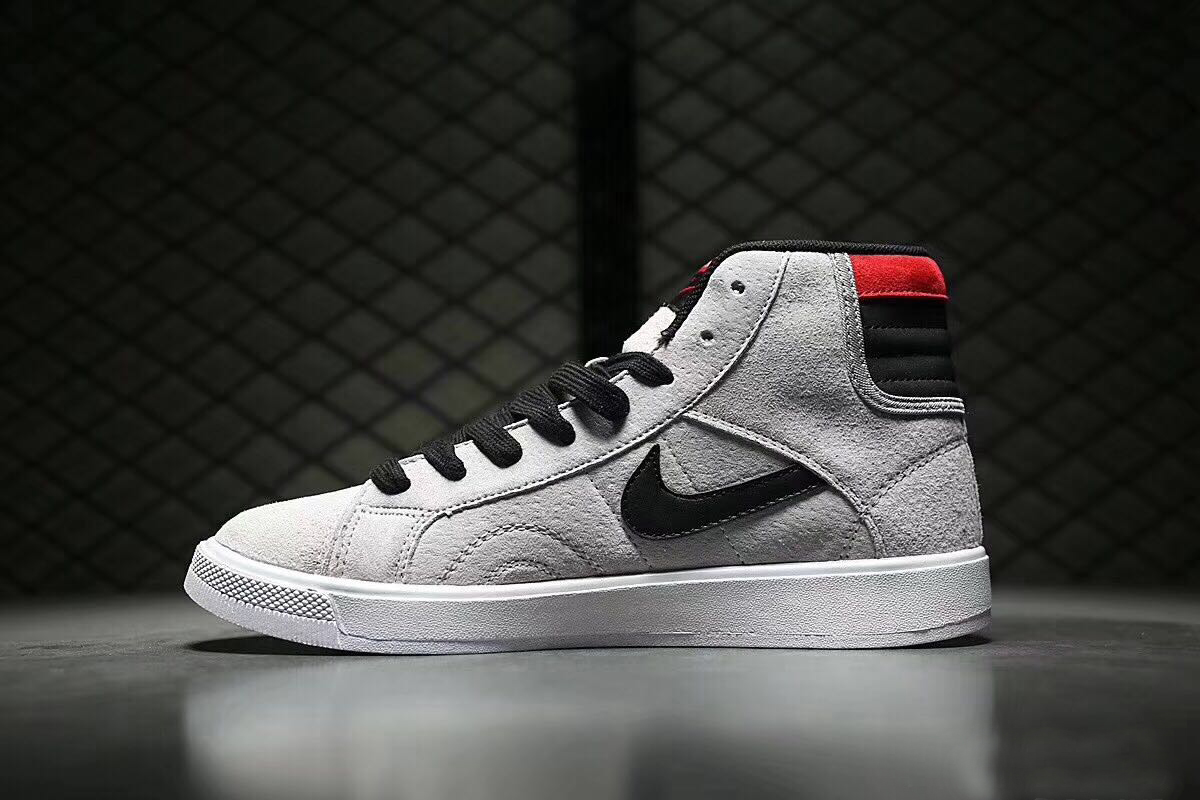 2017 Air Jordan 1 New Year Grey Black Red Shoe