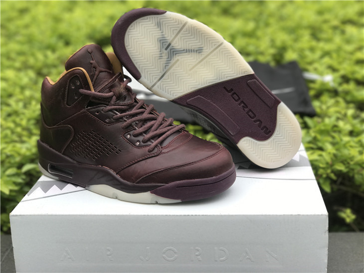 2017 Men Jordan 5 Premium Bordeaux Shoes