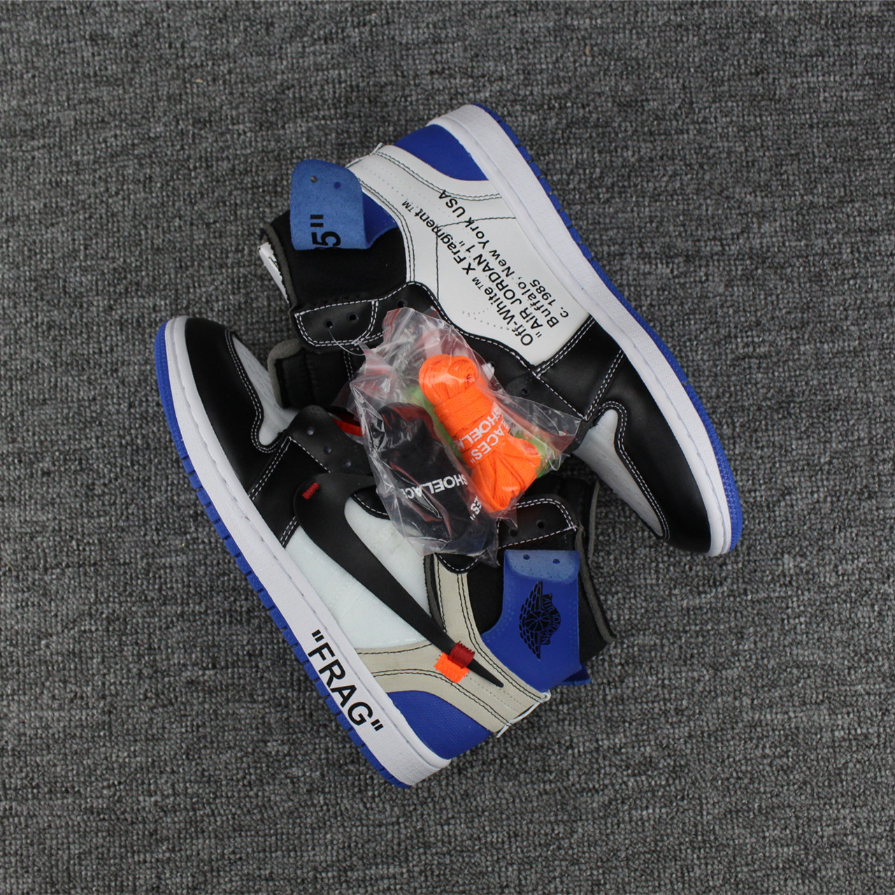 2017 Men OFF-WHITE Fragment Jordan 1 Shoes