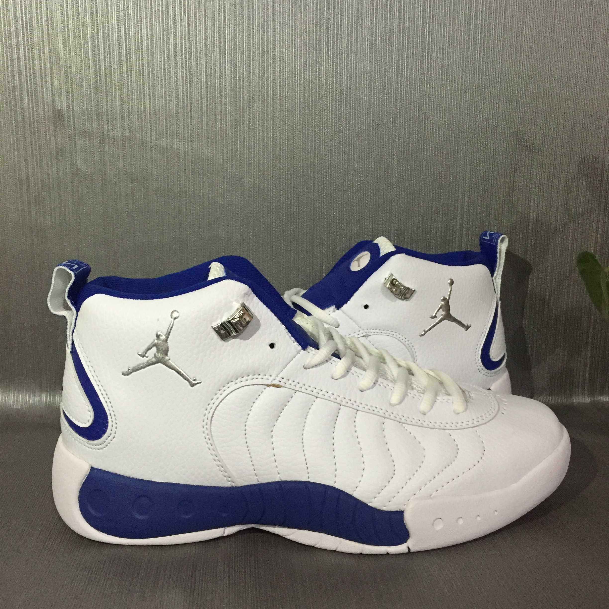 2017 Jordan Jumpman Pro White Blue Shoes