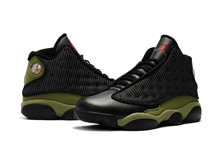 2017 Men Air Jordan 13 Black Green Shoes