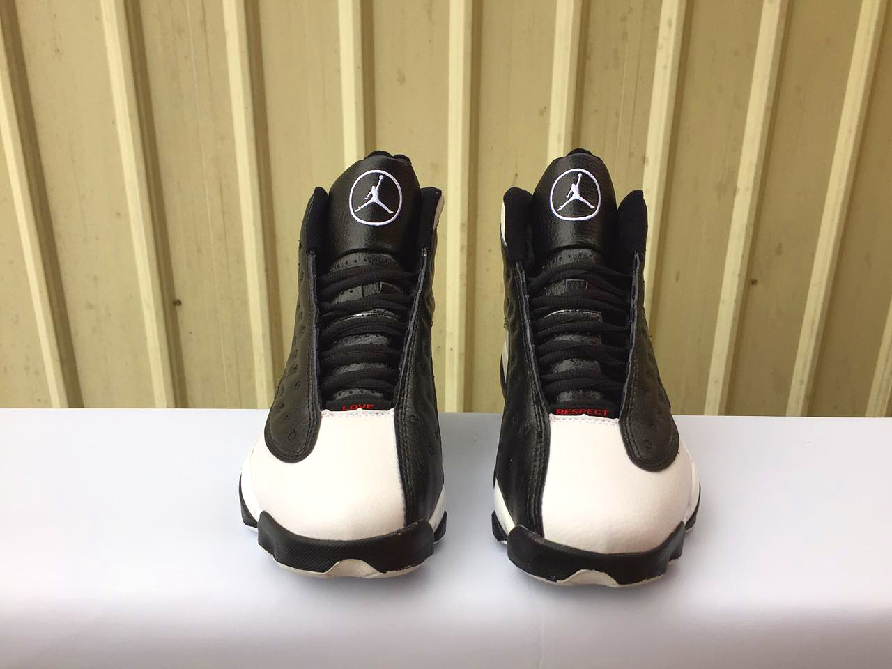 2017 Men Air Jordan 13 Love Black White Shoes