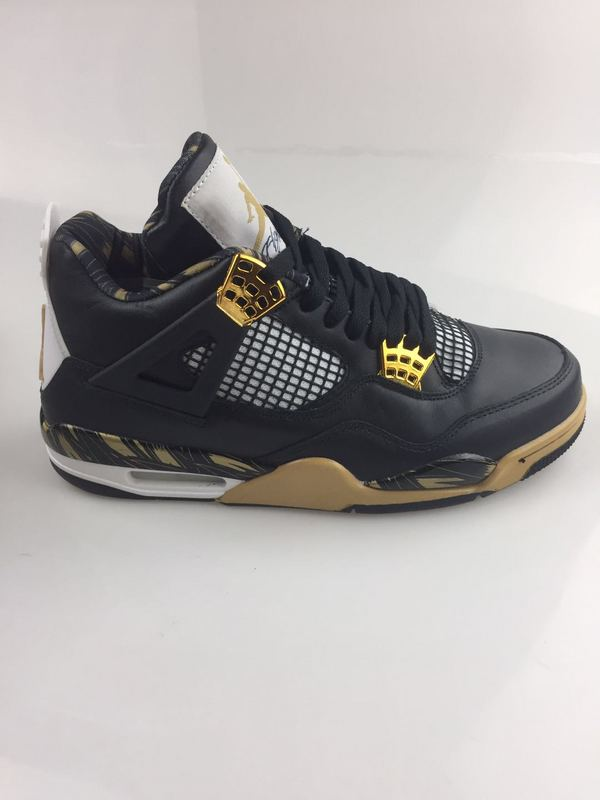 2017 Men Jordan 4 Black Gold Shoes