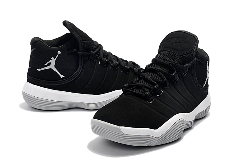 2017 Men Jordan Super Fly 6 Black White Shoes