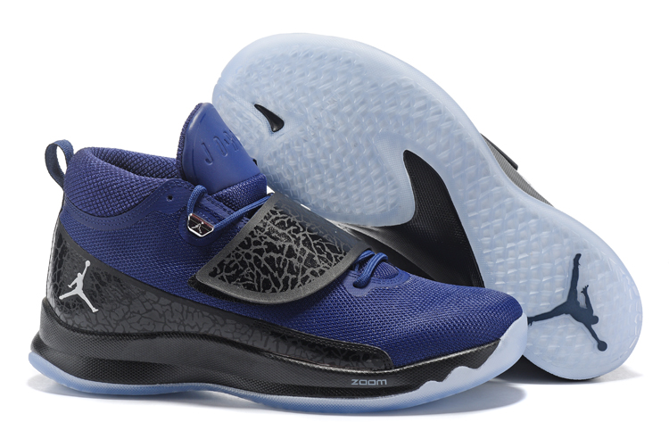 2017 Men Jordan Super Fly V Blue Black Shoes