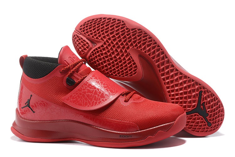 2017 Men Jordan Super Fly V Red Black Shoes