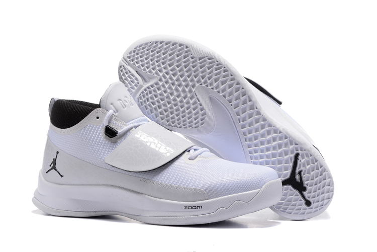 2017 Men Jordan Super Fly V White Black Shoes