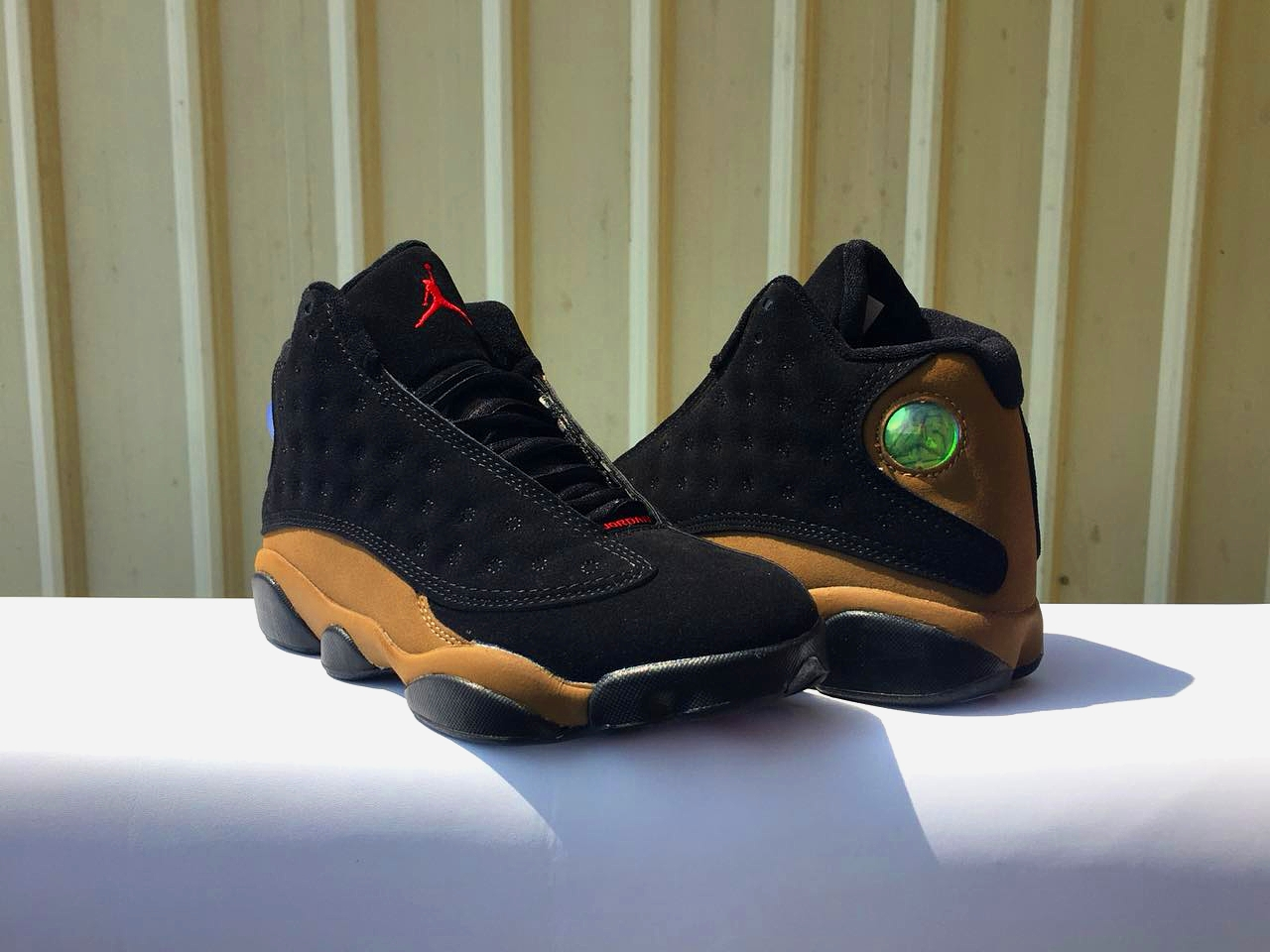 2018 Men Air Jordan 13 Black Brown Red Shoes