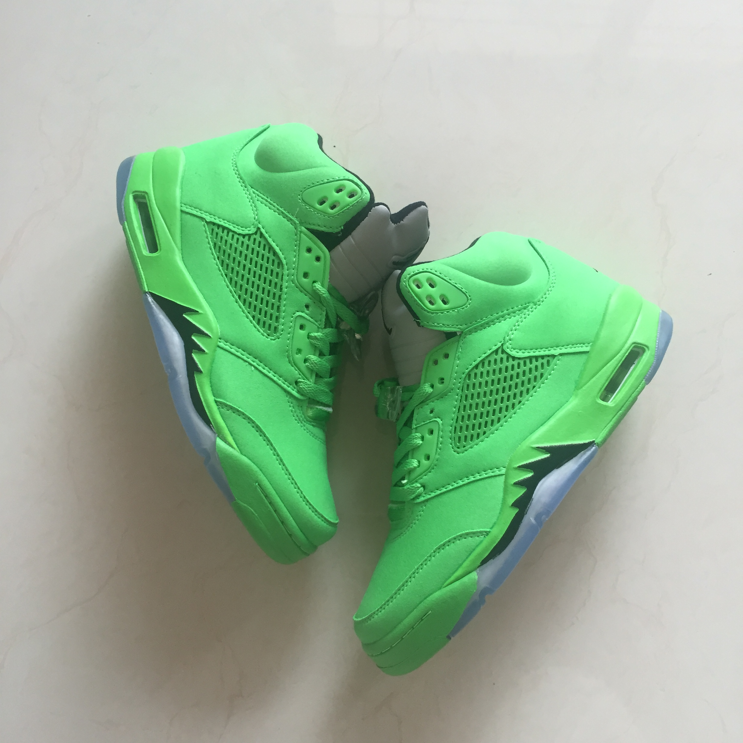 2018 Men Air Jordan 5 All Green Shoes
