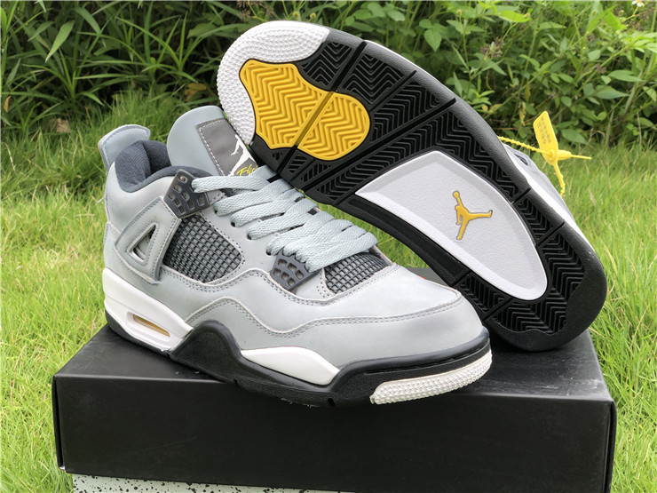 jordan 4s cool grey black white shoes