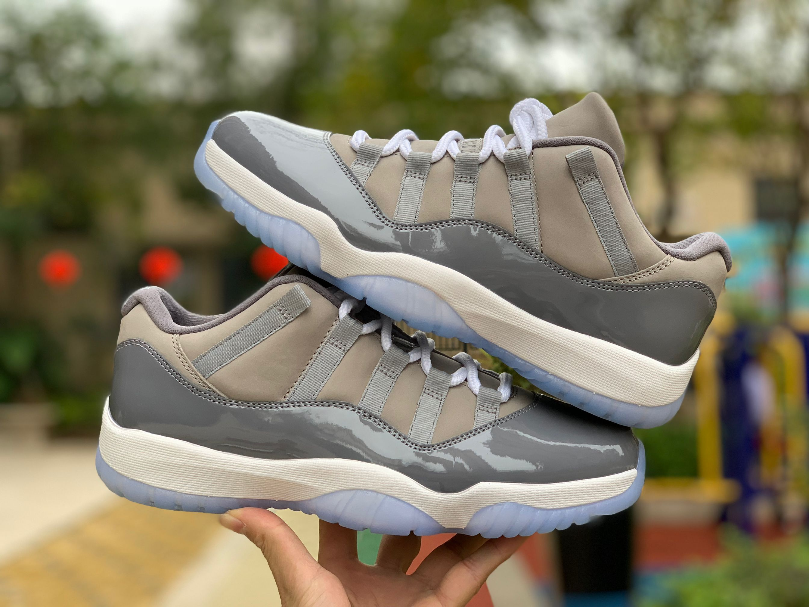 new jordan 11 low cool grey shoes